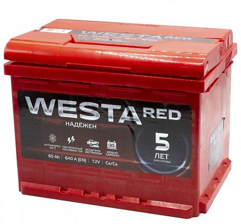 Аккумулятор WESTA RED 60 Ач 640 А прямая полярность