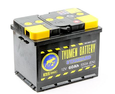 Аккумулятор Тюмень STANDARD 6СТ -60.0 L