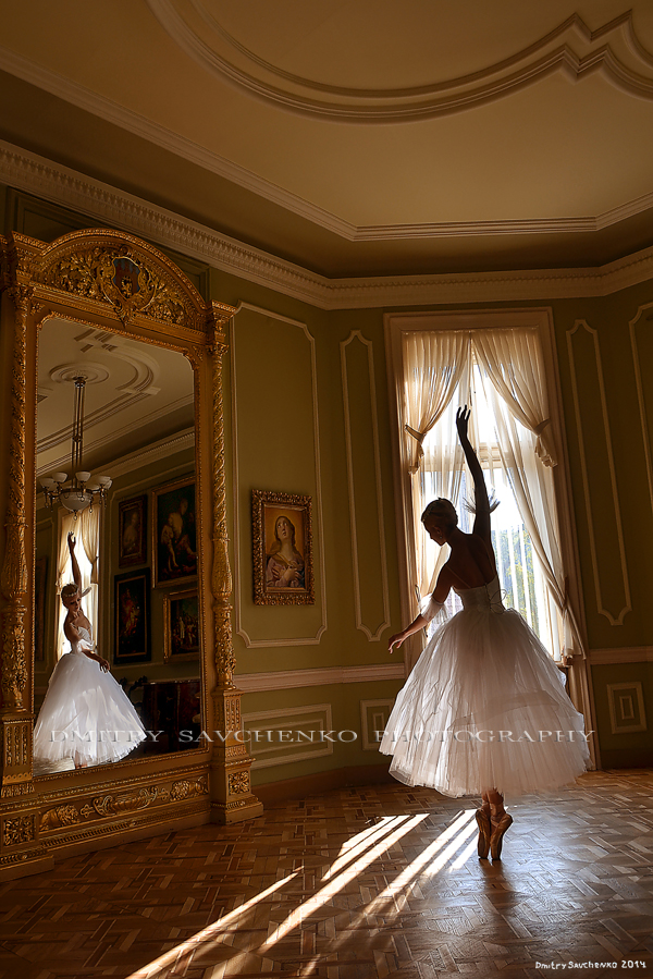 """Reflection of grace. Potocki Palace"