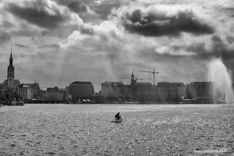 """Alster lake. Hamburg"""