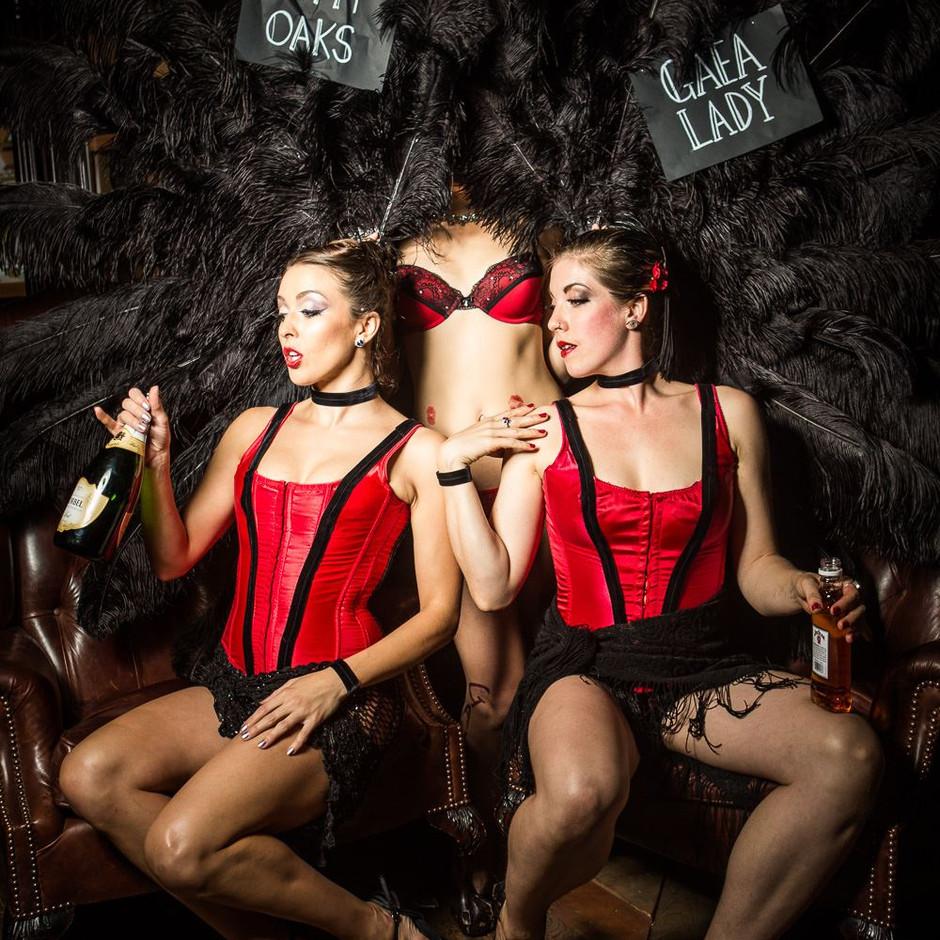 Kinetika backstage at Eva La Feva's Clipper Cabaret
