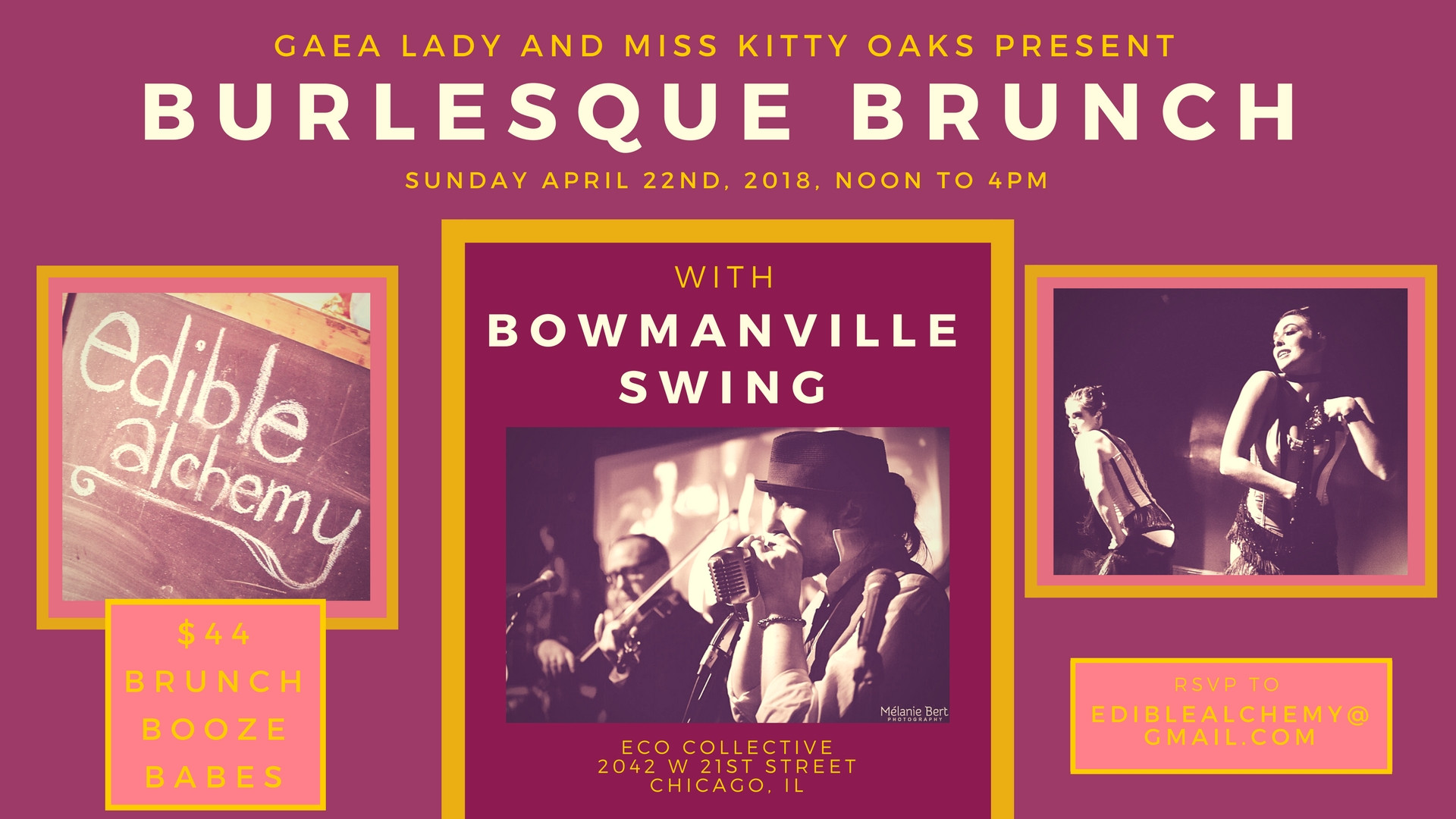 Burlesque Brunch with Bowmanville Swing