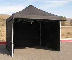 Carpa 3m x 3m Negra + paredes + pesas