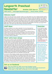 Longworth Preschool Newsletter_November