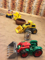 Our new indoor sandpit toys