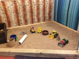 Our new indoor sandpit