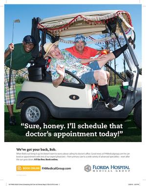 John Sanders Florida Hospital Print Ad