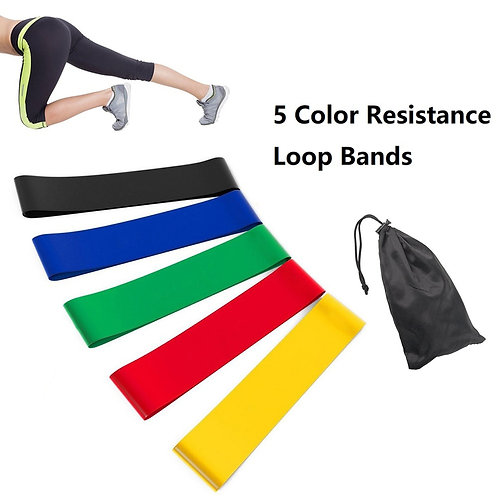 5 Piece Variable Resistance Band Set with Carrying Case