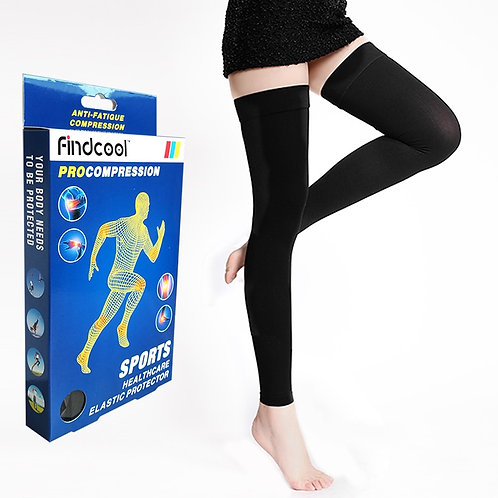 Thigh-High Medical Compression Stockings