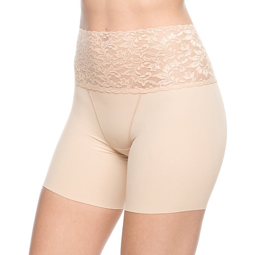 Boy Short Slimmer With Lace Waist Band Nude