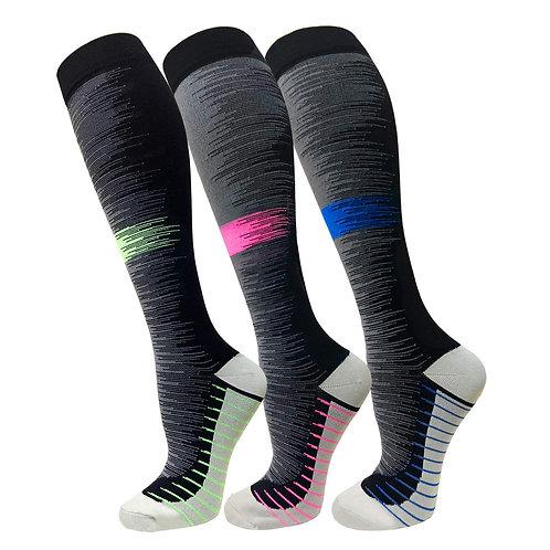 3 Pairs - Compression Sport Socks  15-20mmHg