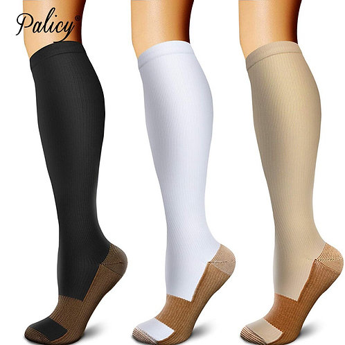 3 Pairs Knee High Compression Socks for Women