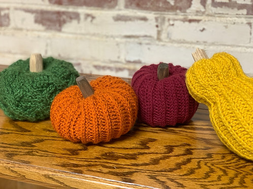 Hand Crocheted Pumpkins  2020 Fall Decor Collection - Multiple colors available