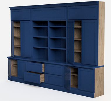 3d Rendered Custom Cabinets
