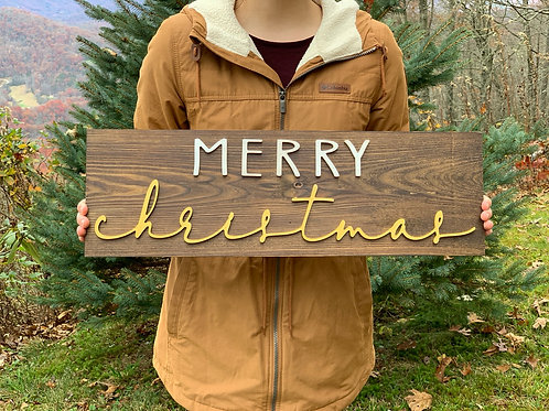 Merry Christmas sign - Christmas 2020 Collection