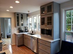 Brooklyn Grey dishwasher and microwave