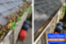 Gutter cleaning before and after in napoleon ohio