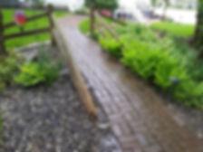 Pressure washing patio sidewalk brick napoleon ohio
