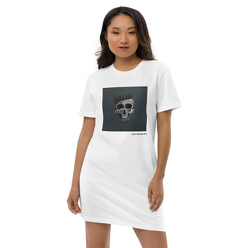 SKULL KING BLACK EDITION Organic cotton t-shirt dress