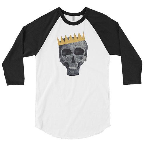 SKULL KING 3/4 sleeve raglan shirt