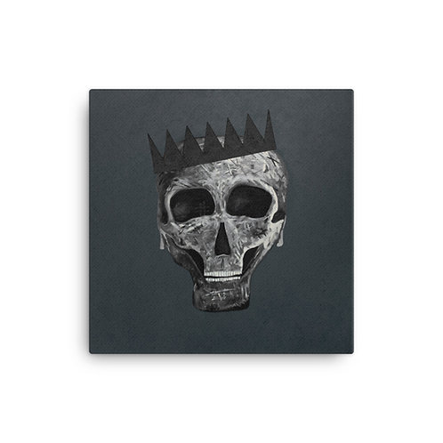 SKULL KING BLACK ON BLACK EDITION Canvas Print