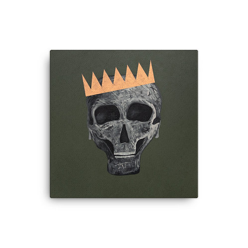 SKULL KING Canvas Print - Army