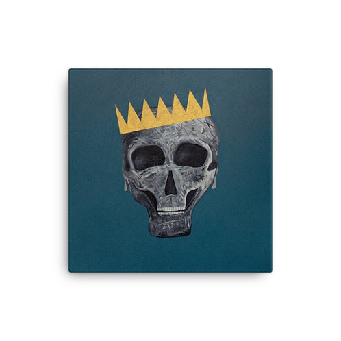 SKULL KING Canvas Print - Teal