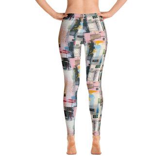 Abstract Yoga Pants