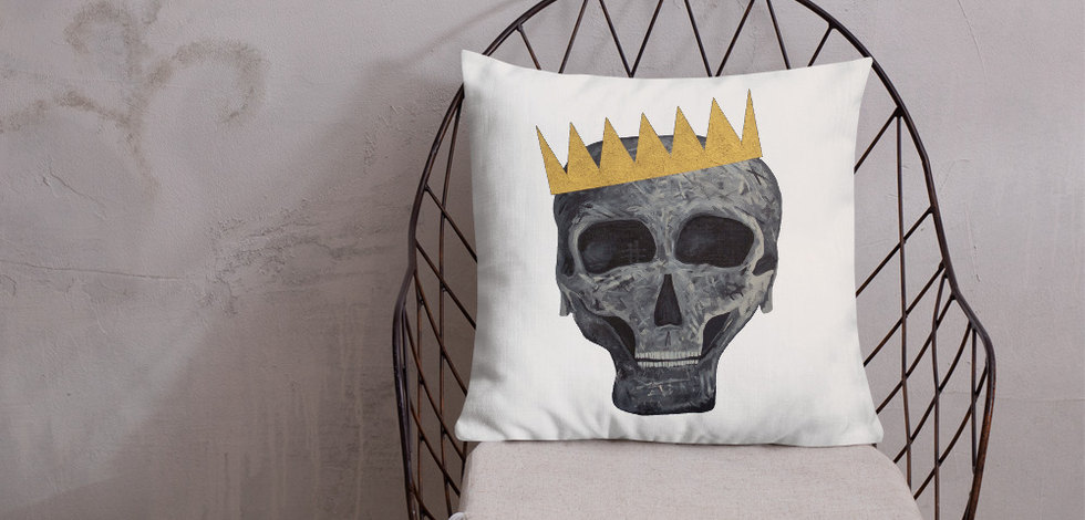 Skull King Pillow Cover