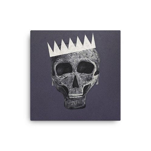 SKULL KING Canvas Print - Purple