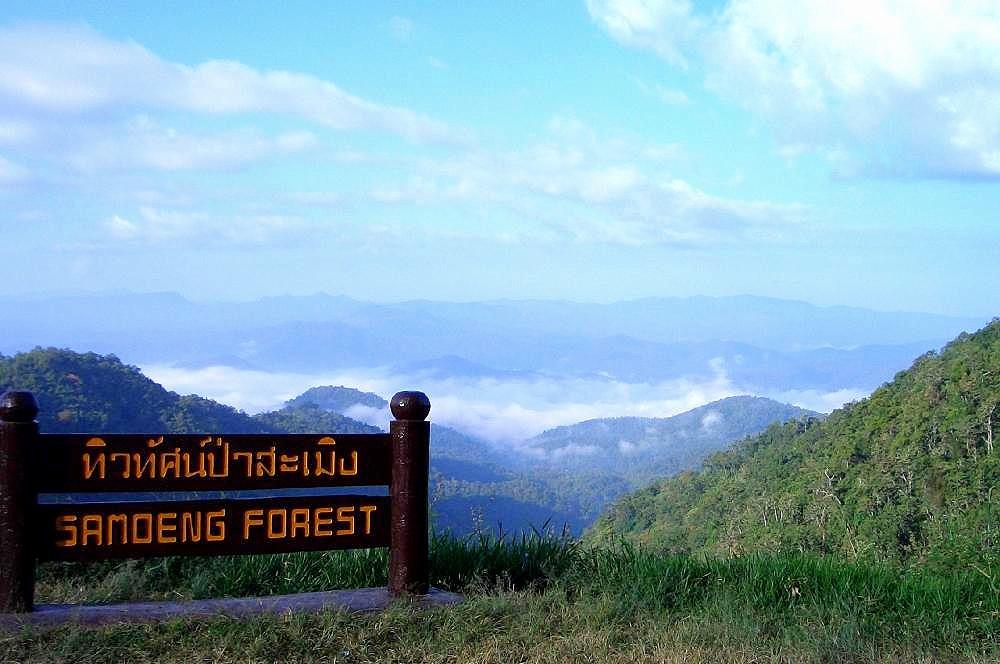 Samoeng Forest Viewpoint Chiang Mai Thailand