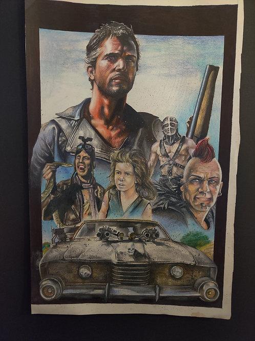 """""""Mad Max 2: The Road Warrior"""" Original Art"""