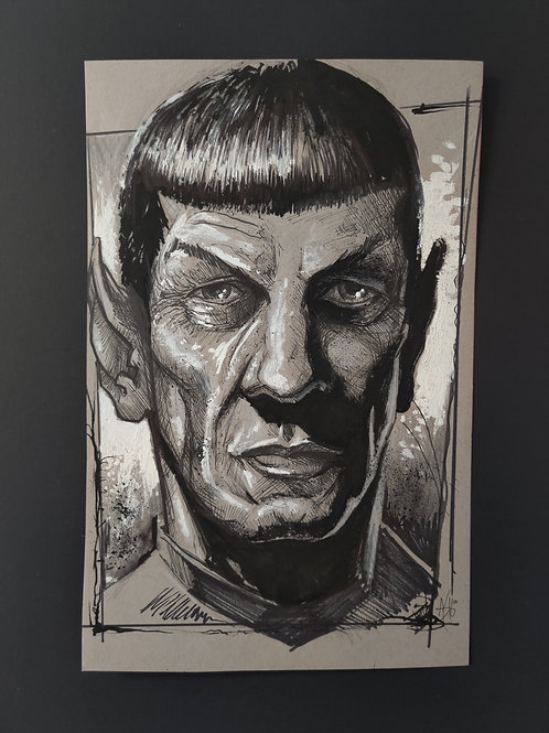 Spock Original Art