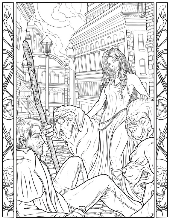 """""""Godmother"""" Coloring Book Page"""