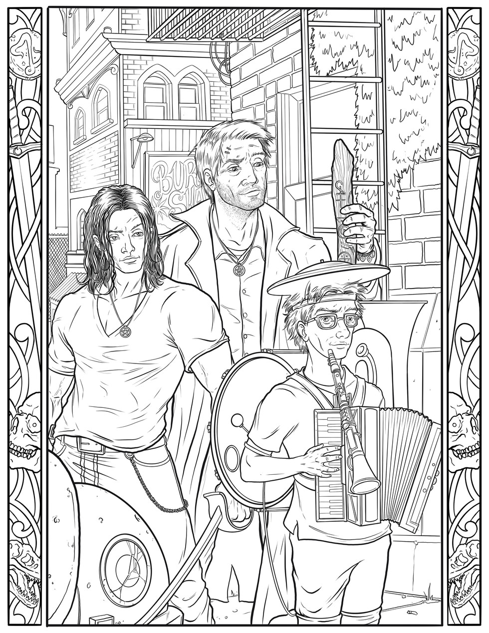 """Polka Never Dies"" Coloring Book Page"