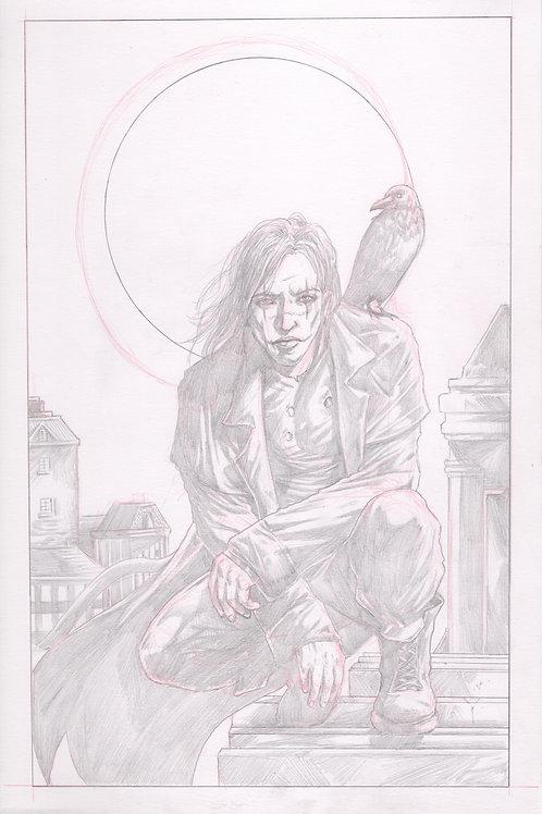 """The Crow"" Original Pencil Illustration"