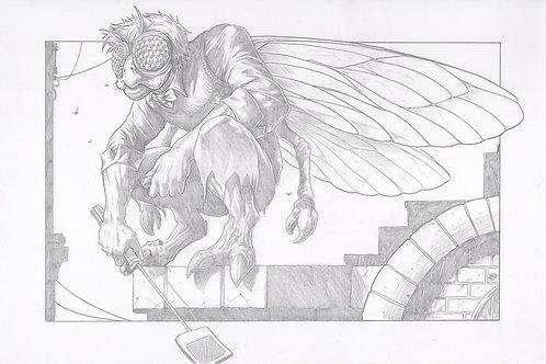 """Baxter Stockman"" Original Pencil Illustration"