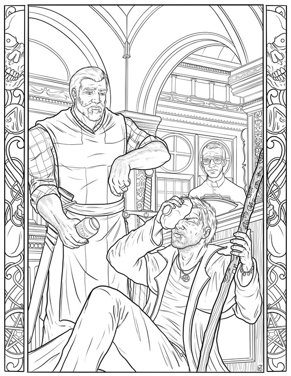 """""""Tuesday"""" Coloring Book Page"""