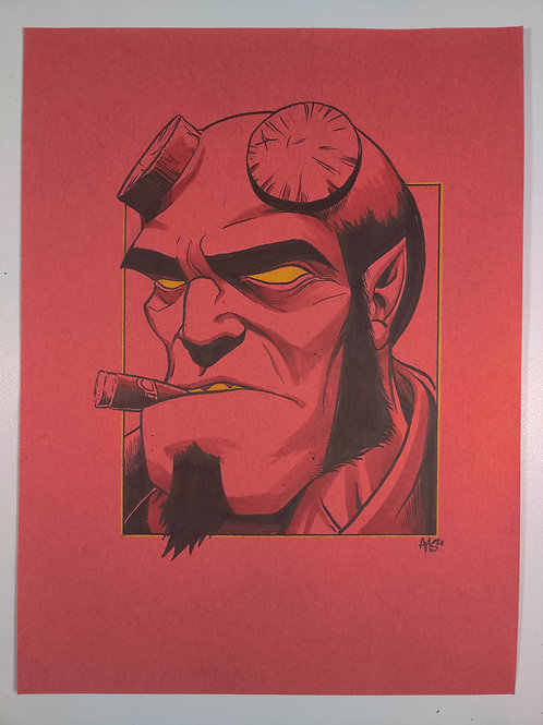 Hellboy Original Illustration