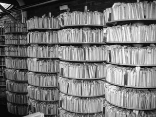 Rotary filing for EC Medical record folders
