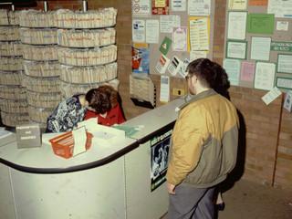 1989: Reception Desk, 20 Billing Road