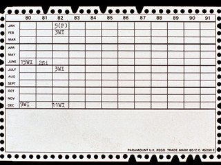 Follow up register on reverse of card