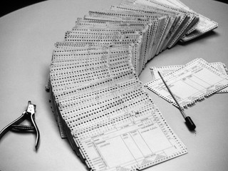 The edge punch card register