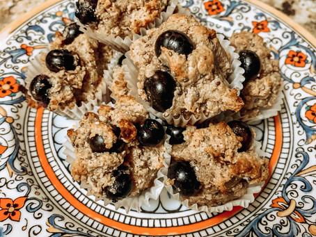 Blueberry Almond Chia Muffins