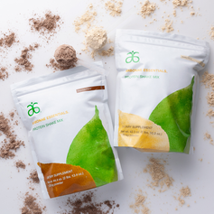 Arbonne Plant-Based Chocolate and Vanilla Protein Powders