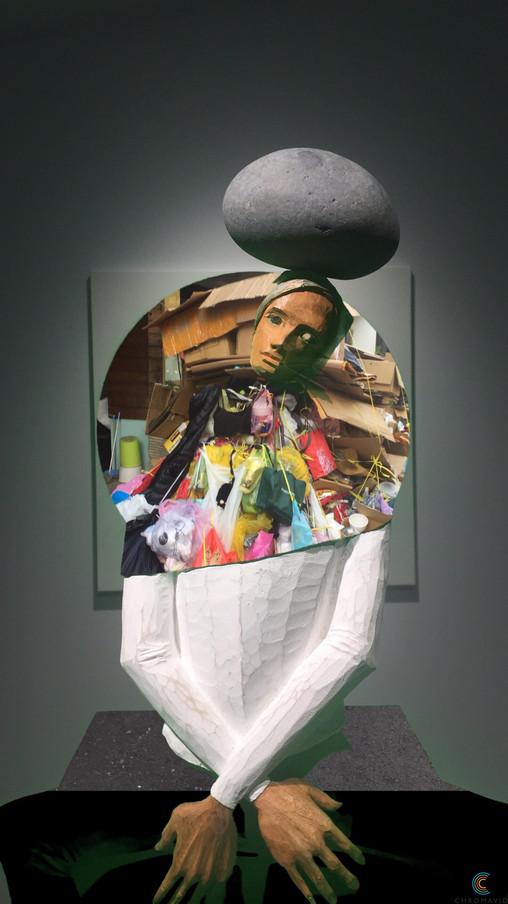 Chromakey sculpture : Calming