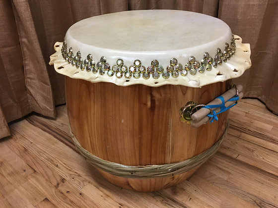 """26"""" Natural Wood Southern Lion Dance Drum"""