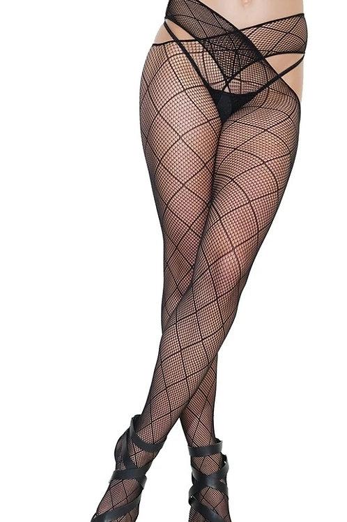 Diamond FIshnet Waist Stockings
