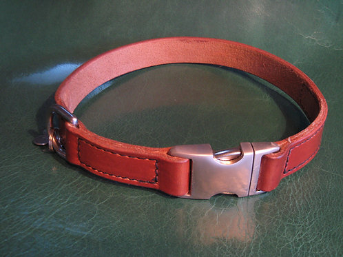 Deluxe Brown Harness Leather Collar