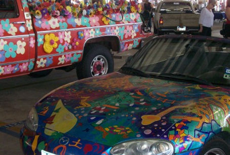 art cars at Traders Village